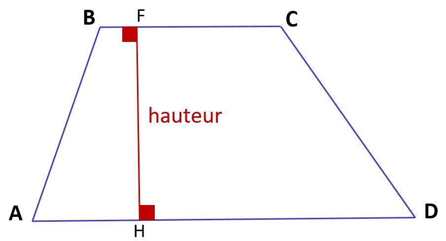 hauteur d'un trapèze